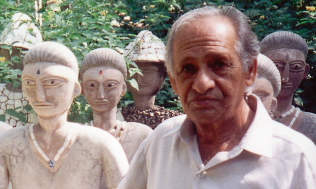 Few people knew about Nek Chand's garden, which he created secretly in his spare time, until it was discovered by the Chandigarh city authorities