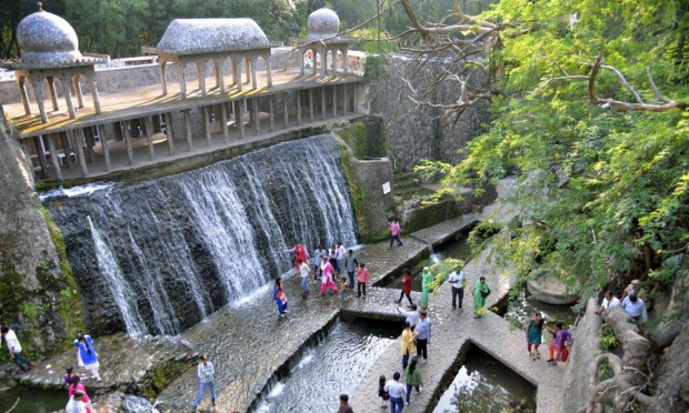 Nek Chand used waste materials to create much of the rock garden. Photograph: Narinder Nanu/AFP/Getty Images
