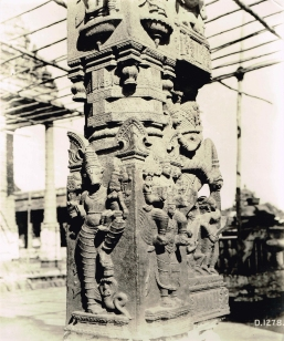 Varaha and Varadaraja in a pier of Varadaraja Temple. Canjeeveram, Chingleput district (Tamil Nadu) | Architectural Survey of India | Photograph | c. 1918 | Swaraj Collection