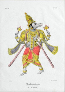 Varahavataram | French unknown artist | Lithograph | Swaraj Collection