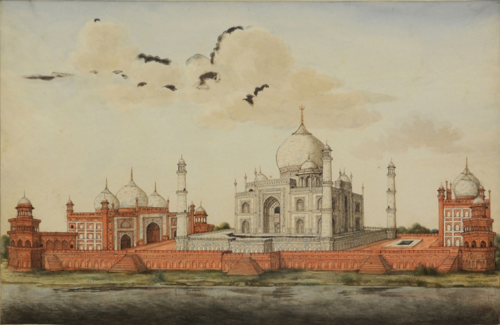Taj Mahal, Agra. Company School artist. Watercolour on Paper.