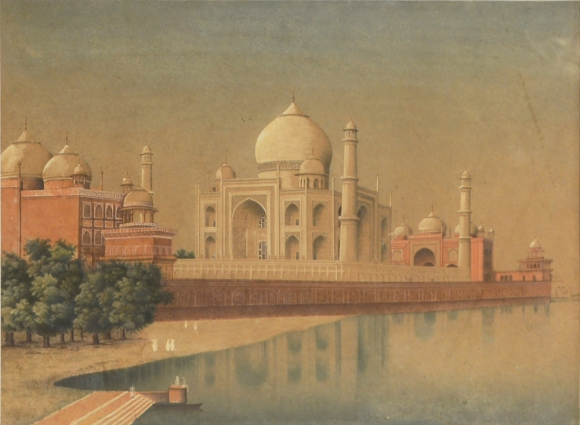 Taj Mahal. Company School artist. Watercolour on Paper.