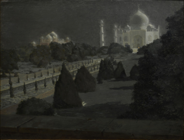 Untitled (Taj Mahal). Hugo Vilfred Pedersen. Oil on Canvas.