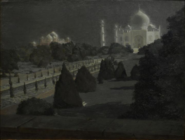 Untitled (Taj Mahal). Hugo Vilfred Pedersen. Oil on Canvas.