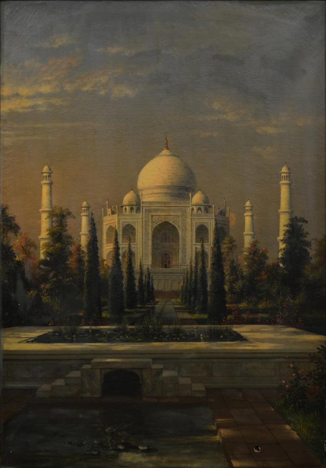 Untitled (Taj Mahal). J.P. Gangooly. Oil on Canvas.